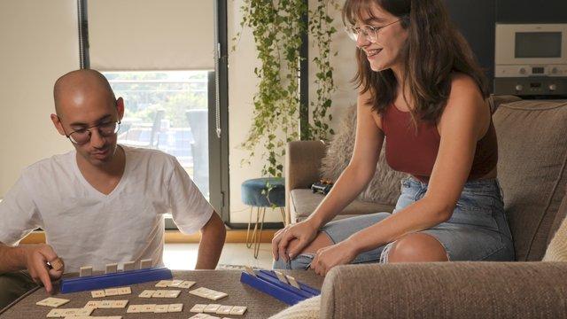 A Couple Play a Logic Table Game thumbnail