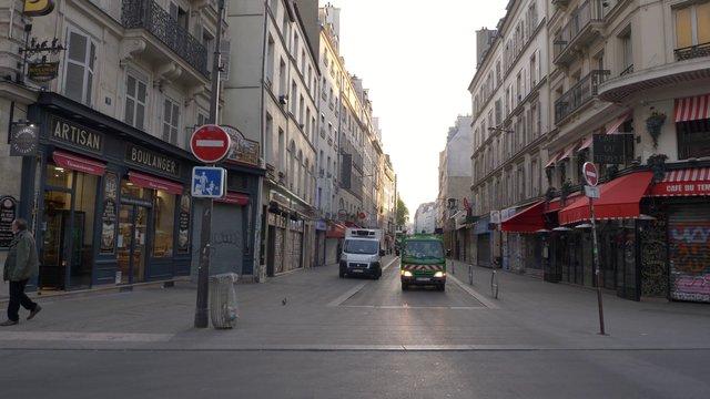 Empty Rue Du Faubourg Du Temple Street  thumbnail