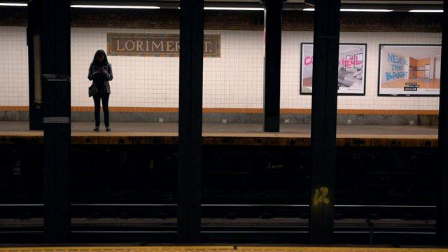Woman Waiting For The Subway thumbnail