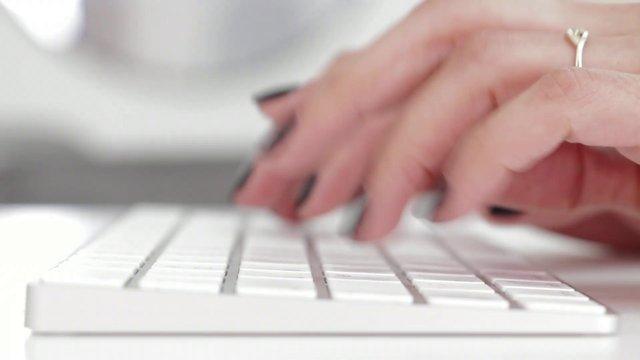 Typing on Apple Keyboard thumbnail