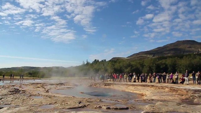 People Watching the Geyser thumbnail