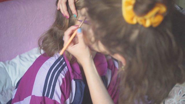 Applying Makeup On Model thumbnail