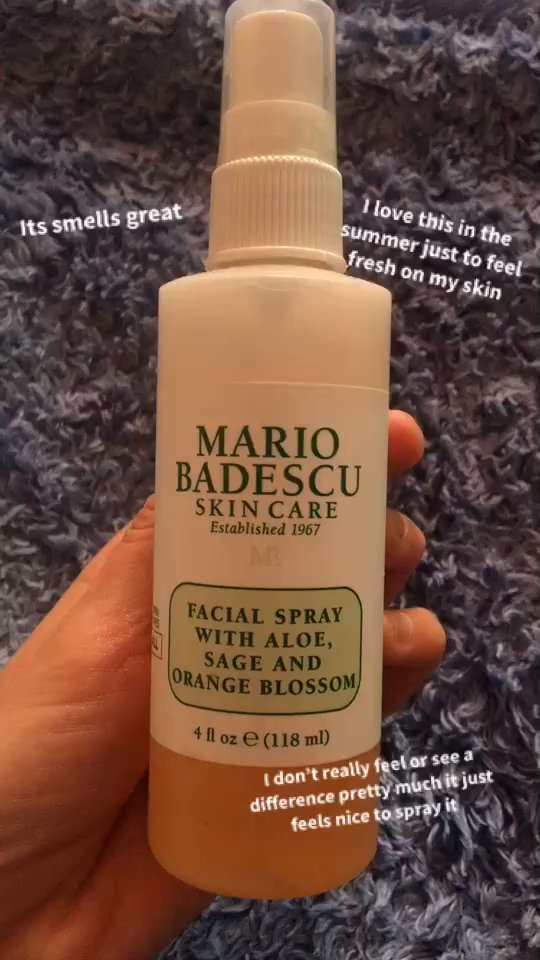 Watch Alysonrose S Review Of Mario Badescu Facial Spray With Aloe Sage And Orange Blossom Supergreat