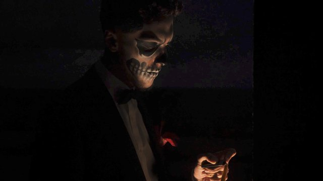 Halloween Man Tries to Lights a Candle thumbnail