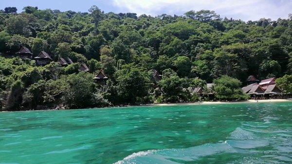 Amidst the blue lagoon of Phi Phi Island