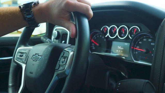 Steering Wheel during Car Ride thumbnail