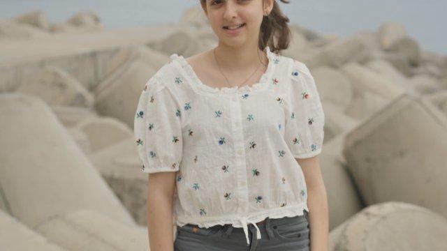 Happy Young Girl at the Bay thumbnail