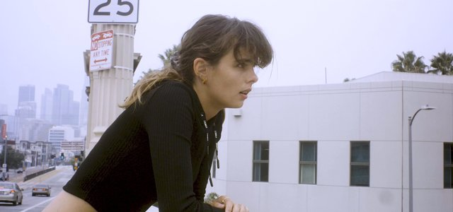 Girl Breathing After Working out in Downtown Los Angeles thumbnail