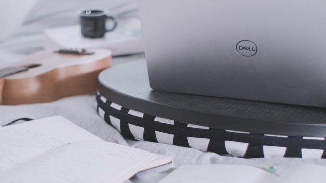 Setting Up Work Station & Typing On Laptop thumbnail