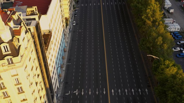 Empty Avenue During Sunset Hours  thumbnail