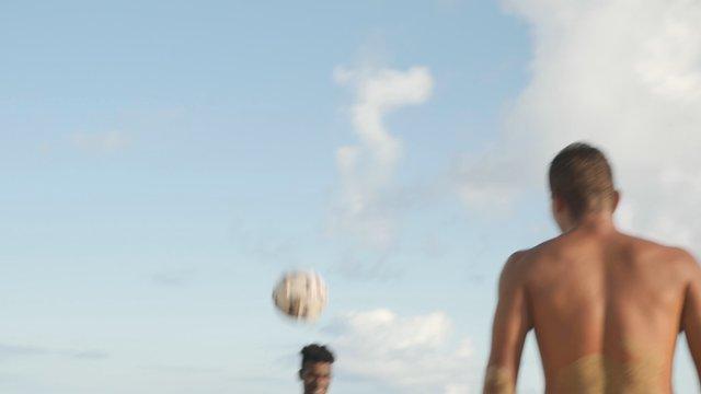 Guys Play Keepy-Uppy on a Seashore thumbnail