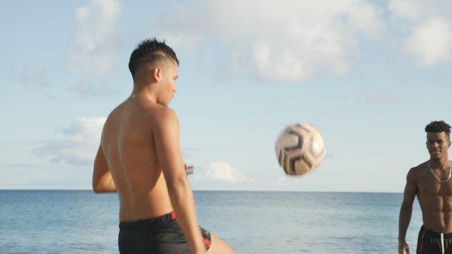 Guys Play Altinho Game on the Beach thumbnail