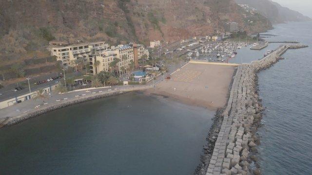 Drone Shot of a Beach at Calheta thumbnail