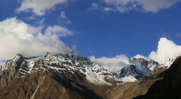View captured outside our tent during Ladakh bike trip ❤️