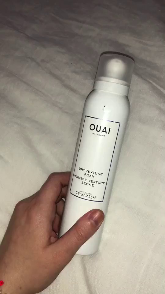 review of OUAI Haircare Dry Texture Foam