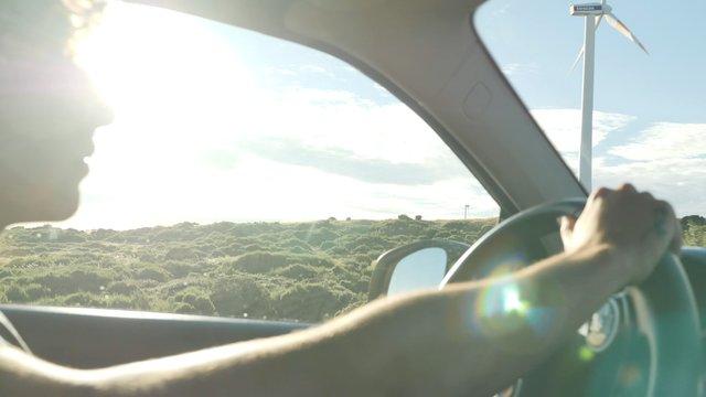 Curly Guy Driving thumbnail