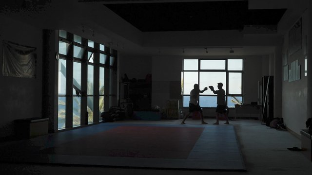 Two Fighters Perform the Martial Art  thumbnail