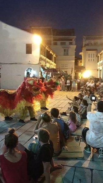 Malaysian lion dance
