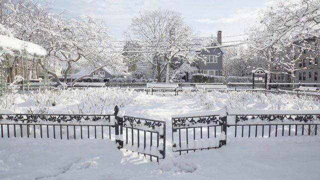 Snowy Open Gate thumbnail