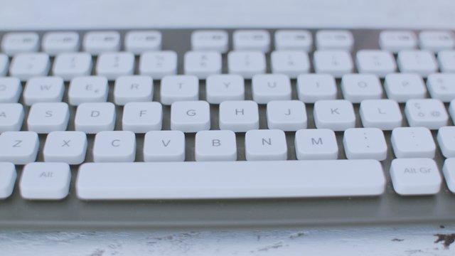 Typing On White Keyboard  thumbnail