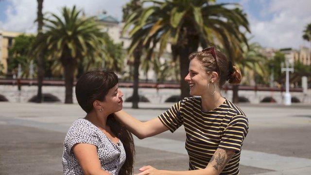 Lesbian Couple Enjoying the Sunny Day thumbnail