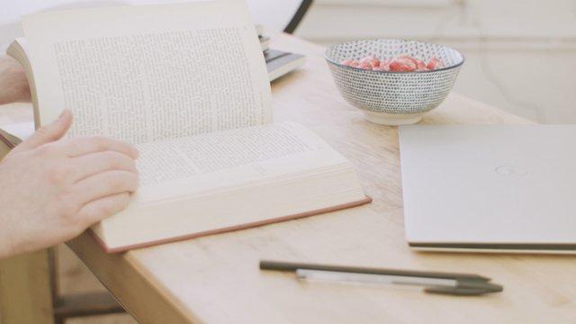 Girl Browsing Through A Book  thumbnail