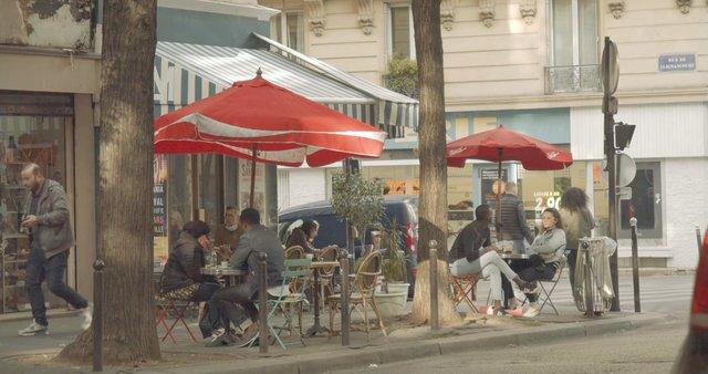 People at a Paris Street Cafe thumbnail