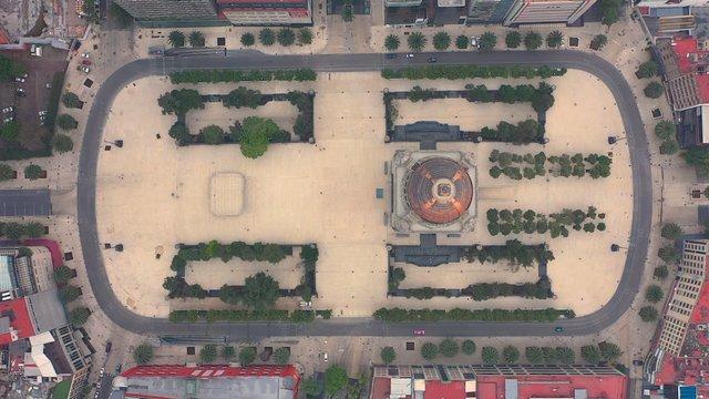 Top Shot Of Monumento a la Revolución In Mexico  thumbnail