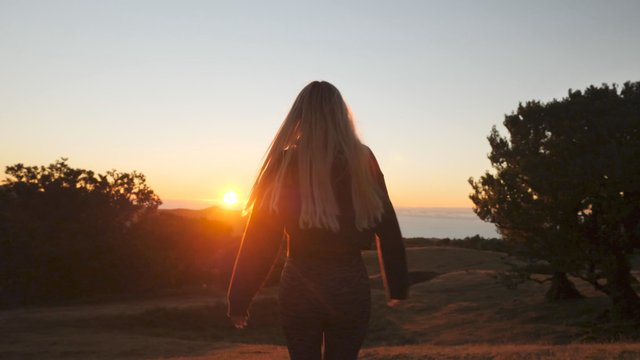 Girl Rejoices on the Hill thumbnail