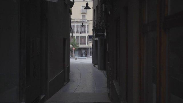 Empty Tiny Spanish Downtown Street thumbnail