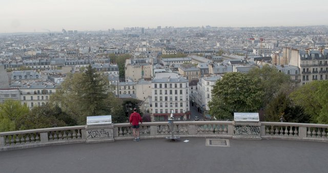 Man Watching On Paris View From Sacre Coeur thumbnail