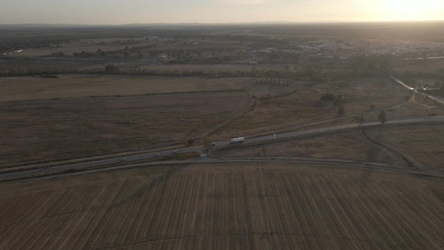 Aerial View of a Countryside in the Evening thumbnail