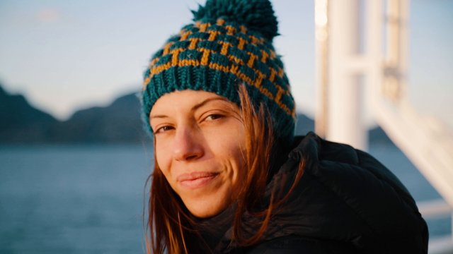 Smiling Woman On Ferry thumbnail