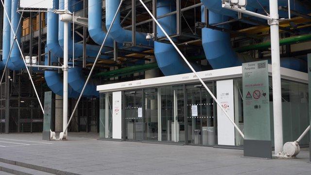 Entrance to Centre Pompidou In Paris  thumbnail