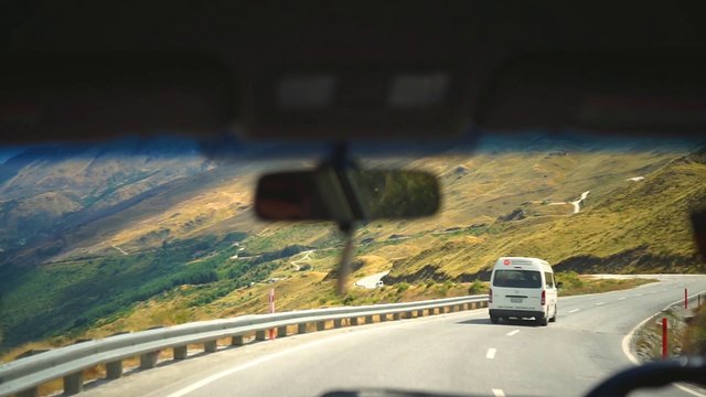 Following Van Down The Mountain Roads thumbnail