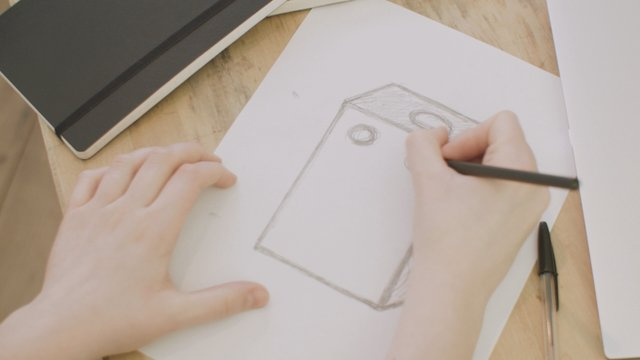 Pencil Sketching A 3D Rectangle On Paper  thumbnail